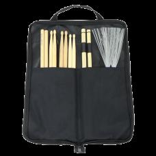 GEWA Drum & Percussion Stick Bag With 6 Pair Sticks
